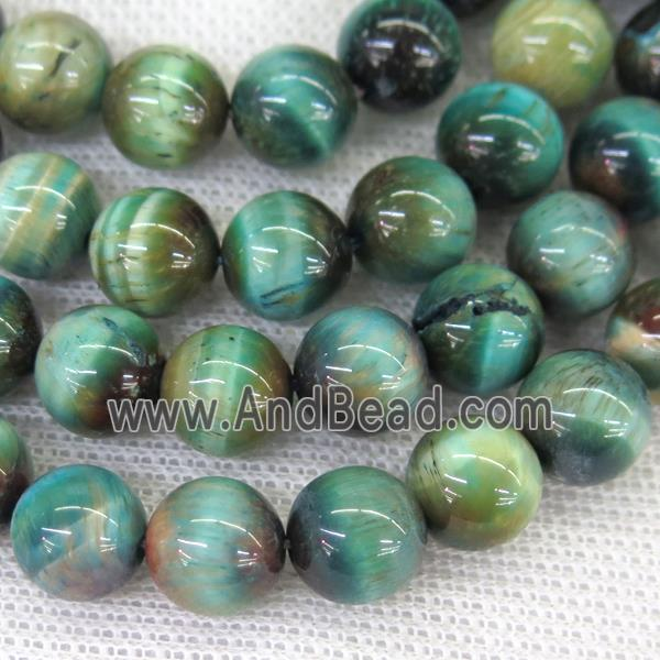 round Tiger eye stone beads, blue (GB11967-8MM) approx 8mm dia