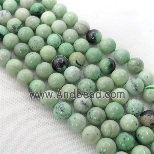 South African garnet Hydrogrossular round Beads, green (GB13336-8MM) approx 8mm dia