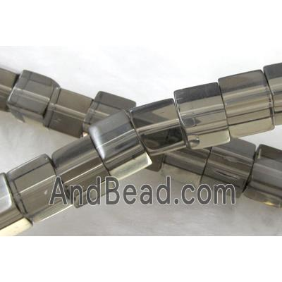 gray Cube Glass Beads