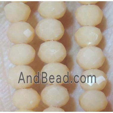 chinese crystal bead, faceted rondelle