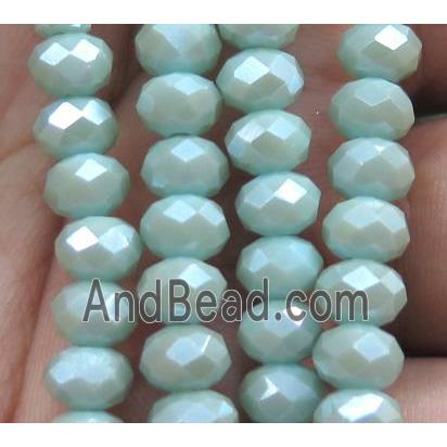 Chinese crystal glass bead, faceted rondelle