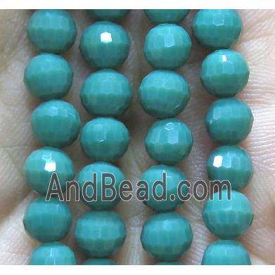 Chinese crystal glass bead, faceted round