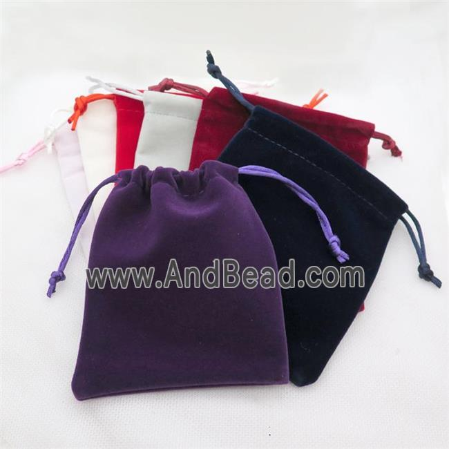 mixed Velvet Pouches, Jewelry bags (JPB22-10X12CM) approx 10x12cm