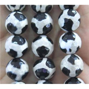 tibetan agate beads, faceted round