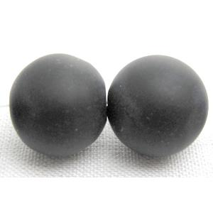 round matte agate onyx Beads, black
