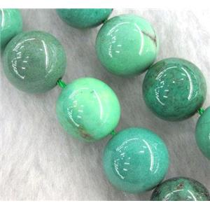 round Green Grass Agate Beads