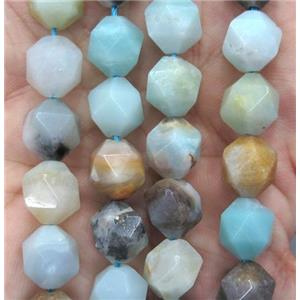 faceted round Amazonite ball beads
