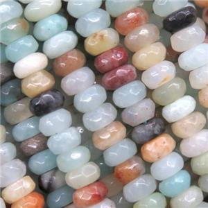 tiny amazonite beads, faceted rondelle