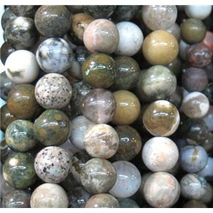ocean Agate beads, round