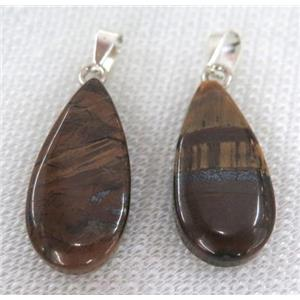 tiger eye stone pendant, teardrop