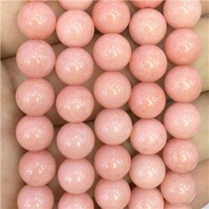 jade bead, stabile, round, pink