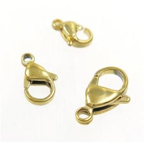 stainless steel clasp, gold plated