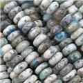 natural Azurite K2 jasper beads, rondelle, A grade, approx 3x6mm