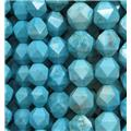 blue turquoise ball bead, faceted round, approx 8mm dia