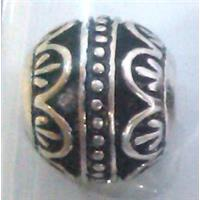 round tibetan silver hollow beads, lead free and nickel free