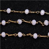 copper chain with Chinese crystal glass bead