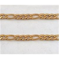 stainless steel chain, gold plated, approx 4mm wide