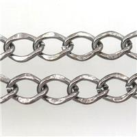 iron chain, black plated, approx 8-11mm