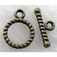 Tibetan Silver toggle clasps, Antique Bronze