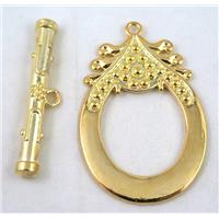 alloy toggle clasps, gold plated