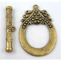 alloy toggle clasps, antique gold plated
