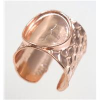 copper ring, rose gold plated