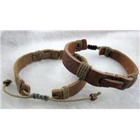 Genuine Leather Bracelet, Mix, 13mm wide, 8 inch long