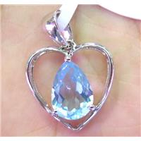 Topaz with sterling silver pendant