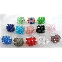 handcraft Crystal glass ring, Mix color