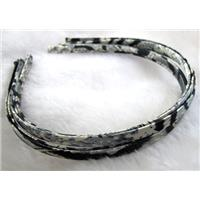Head Bands, steel alloy, cord-braiding, 7mm wide, approx 13x15cm
