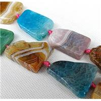 Agate Slice beads, freeform, mixed color, approx 20-35mm