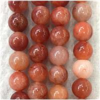 round Red Chalcedony beads, approx 8mm dia