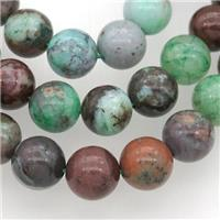 round African Jadeite beads, dye, approx 10mm dia