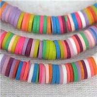 Fimo Polymer Clay Heishi Beads, mix color, approx 8mm dia