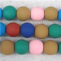 round Fimo Polymer Clay beads, mix color, approx 8mm dia
