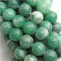 green Jadeite Beads, round, approx 8mm dia