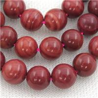 Red Brazilian Rhodonite Round Beads, approx 10mm dia