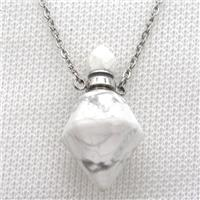 white Howlite Turquoise perfume bottle Necklace, approx 20-35mm