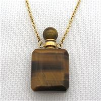 Tiger eye stone perfume bottle Necklace, approx 20-35mm