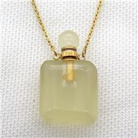 Lemon Quartz perfume bottle Necklace, approx 20-35mm