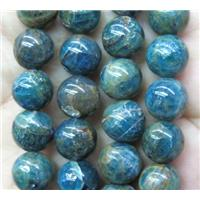 round Apatite bead, blue, approx 6mm dia
