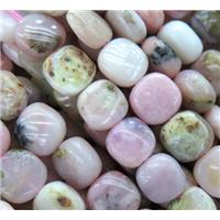 Pink Opal Stone Beads, square