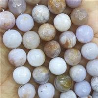Australian Agate Beads, faceted round, approx 8mm dia