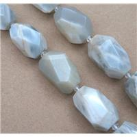 white Moonstone nugget beads, faceted freeform, approx 15-20mm