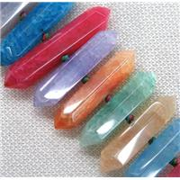 agate bullet beads, mix color, approx 20-40mm