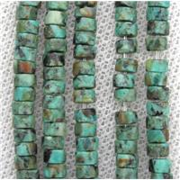 African Turquoise heishi beads, green, approx 4mm dia