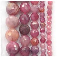 natural Ruby beads, faceted round, approx 6mm dia