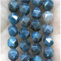 faceted round Apatite bead ball, AB-grade, approx 6mm dia