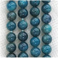 round blue Apatite beads, approx 6mm dia