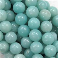 round blue Amazonite beads, approx 8mm dia